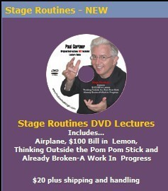 Paul Gertner - Stage Routines lecture